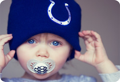 Colts 14-0 Baby! Explore #241 (Sami Merriman) Tags: blue baby cute girl sweet daughter colts win