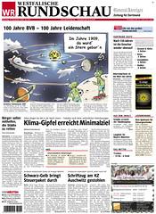 Westfälische Rundschau (19.12.2009): 100 Jahre Borussia Dortmund (BVB)