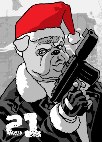 Bulldog Santa