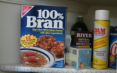 100% bran (romana klee) Tags: food house kitchen river advertising design weird rice box cereal can spray shelf pam 80s ugh labels 100 pantry fiber product brand package crisco bran nabisco nonstick proustian memoireinvolontaire