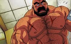 Manga Bear (FurryBix) Tags: musclebear anime male fur beard muscle manga bearman yaoi bara macho brutal