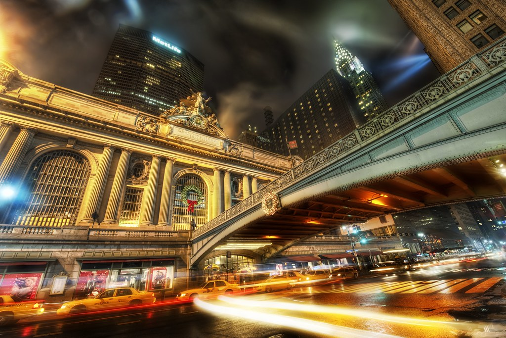 Grand Central on a Rainy Night During the Holidays