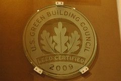 U.S. Green Building Council, LEED CERTIFIED logo, 2009