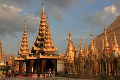The Golden One (io747) Tags: gold pagoda place buddha yangon burma religion myanmar mystic shwegadon estremit vanagram