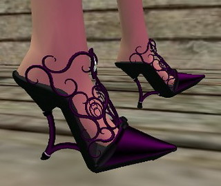 SL - Purple Filigree Mules