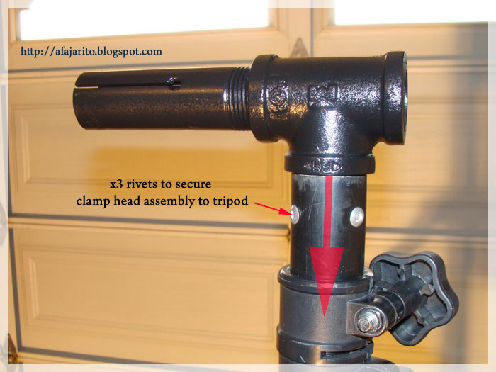 how to make a bike repair stand clamp