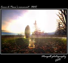 Curva di Peano's monument - hdr (Margall photography) Tags: panorama ex monument photoshop canon landscape photography dc ray 10 monu