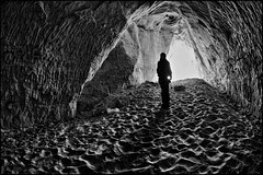 saint paul minnesota caves (Dan Anderson.) Tags: urban blackandwhite bw minnesota underground sand sandstone exploring stpaul haunted creepy caves flashlight cave caving saintpaul exploration mn hangout wabasha ganster spelunker riverbluff castleroyal peregrino27blackwhite