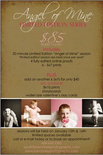 "4250070540 233a02b357 Introducing ""Angel of Mine"" Limited Edition Mini Sessions!"