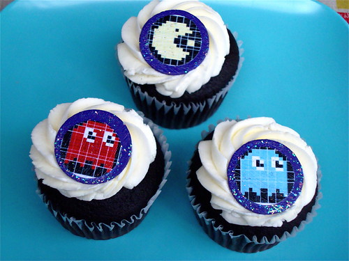 Pac-Man Cupcake Toppers