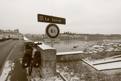 La Loire River in Gien...