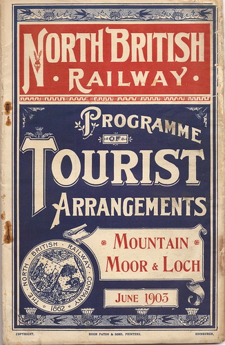 North British Railway - tourist timetables - June 1903 by mikeyashworth