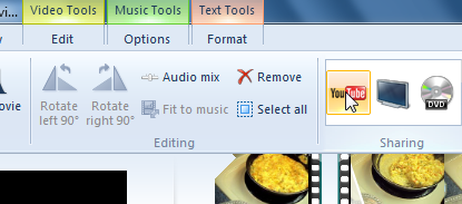 Post Windows Live Moviemaker directly to YouTube