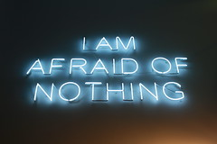 I Am Afraid Of Nothing (Lizzie Staley) Tags: light sign writing neon text fear brave nothing afraid uwe