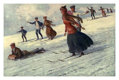 015-Deportes de nieve en la Montaña Kosciusko-Australia (1910)-Percy F. Spence