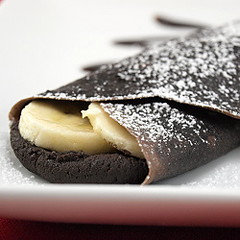 Chocolate Mascarpone and Banana Crepes