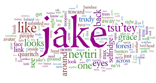 James Cameron's AVATAR as a word cloud