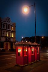 Duke and Phones (Clive Copeman) Tags: light night dunedin brigade