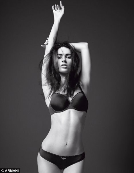 Megan Fox modeling Armani interior