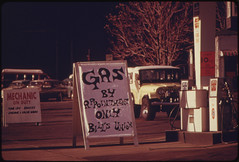 Gas by Appointment Signs Increased Each Day in Portland and Other Parts of Oregon until the State Put Into Effect the Odd-Even Gas Plan. Other States Also Adopted the Scheme to Decrease the Gas Lines 01/1974 (The U.S. National Archives) Tags: station sign gas gasstation pump gasoline limit crisis environmentalprotectionagency shortage gasshortage documerica usnationalarchives nara:arcid=555473
