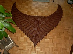 Wings of Horus Shawl - Blocked & Complete