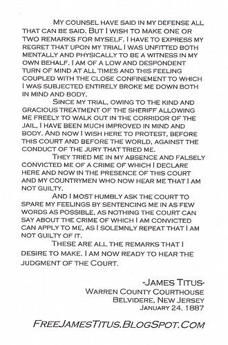Titus Statement Postcard