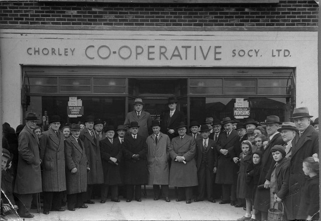 Opening of Chorley Co-operative Society store, Birkacre, Coppull. c 1930s.