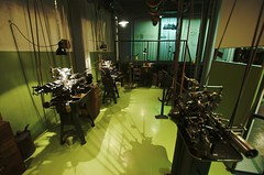 Maschinen im Uhrenindustriemuseum in Schwenningen