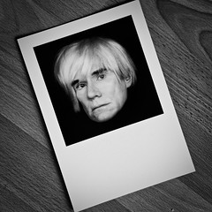 Project 365 Day 19: Andy Warhol's disembodied floating head [Explored!] (Greg McMullin) Tags: wood blackandwhite bw white black oneaday blackwhite post postcard sony sheffield made readymade card photoaday ready nik 365 woodgrain pictureaday robertmapplethorpe 60p andyworhol project365 19365 gravesgallery project3651 minoltaamount sonyalpha350 silverefexpro 190110 3652010 project36612010 project365190110 sony18250mmdtlens
