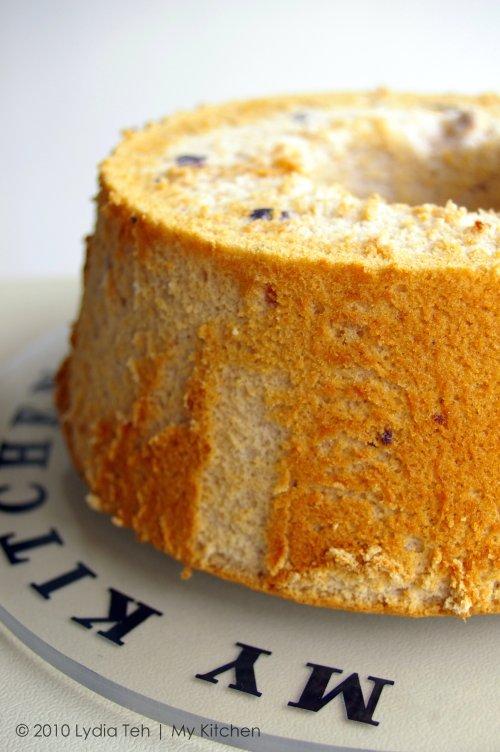 Black Currant Chiffon Cake