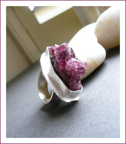 Rough Amethyst Sterling Silver Ring