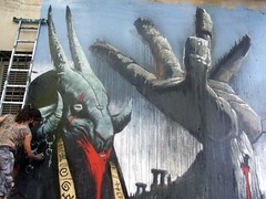 CAMINO HACIA EL SABBATH 6 (emy mariani) Tags: streetart mural arte satan graffitti emy sabbath pintura mariani