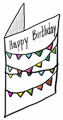 Mini bunting birthday card