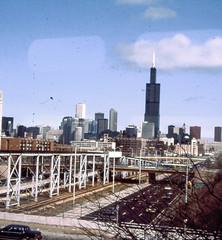 19850317 04 Chicago Skyline from Harrison & Paulina (davidwilson1949) Tags: chicago illinois cta transit douglas rapidtransit