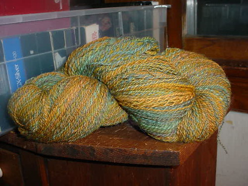 Green and Gold Yarn
