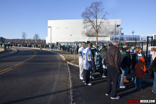 New York Jets Pep Rally Atlantic Health Training Center Florham Park New Jersey - Fans