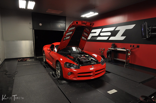 2008 Dodge Viper SRT-10 on dyno