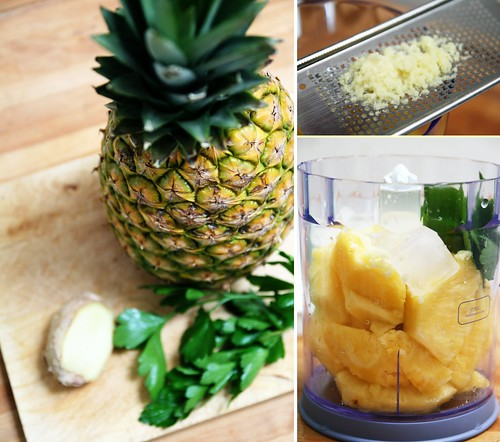 Ananas, gingembre & persil