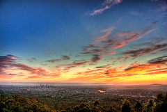 Australia Day Sunrise - Mt Cootha, Brisbane