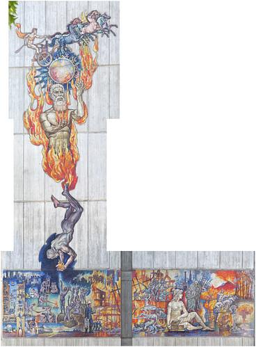 Legend of Fire mosaic, Melbourne