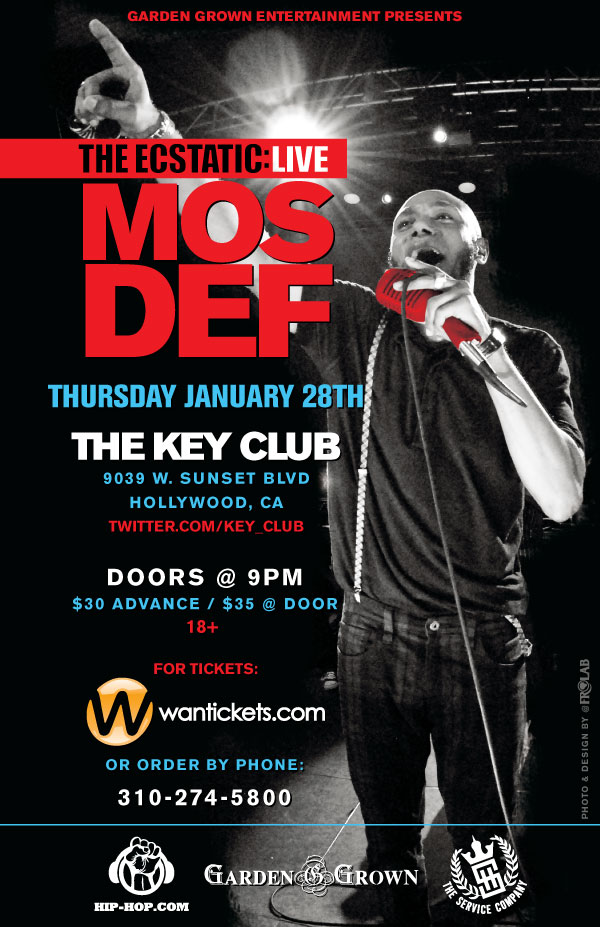 MOS DEF - Live at the Key Club Thursday 1/28