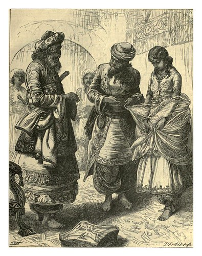008-Comprando una bella persa-T. Dalzie-Dalziel's Illustrated Arabian nights' entertainments (1865)l