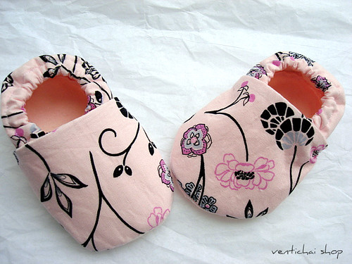 Baby Bella Pink And Black Shoes Booties Slippers