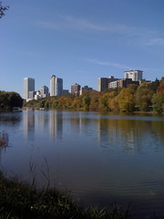Milwaukee Skyline over Juneau Park Pond