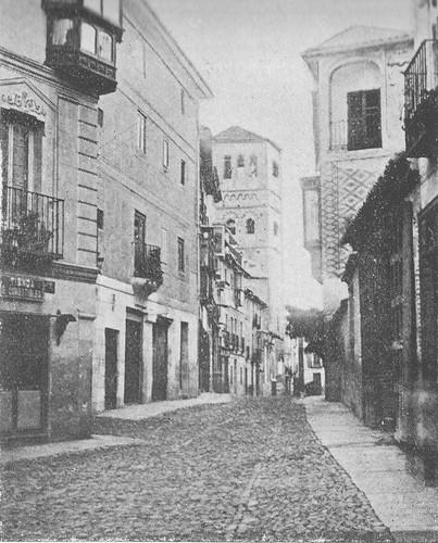 Iglesia y Calle de Santo Tomé en el siglo XIX