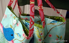 3 little purses for little girls, lining visible
