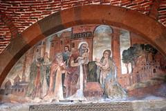 Fresco over Door - St Gayane Monastery Church - Echmiadzin, Armenia (jrozwado) Tags: church saint asia armenia fresco unescoworldheritage armenianapostolic echmiadzin հայաստան orientalorthodox stgayane եջմիածին սուրբգայանե
