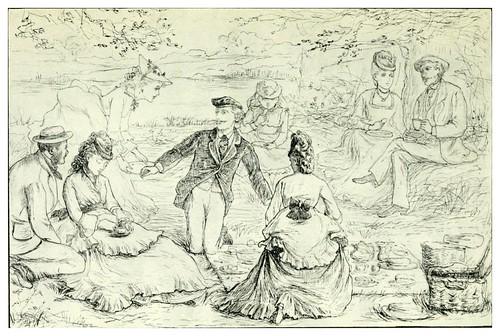 031- Boceto de un picnic-Kate Greenaway 1905- Marion Spielmann y George Layard
