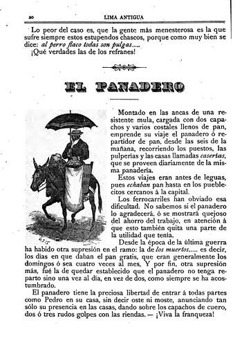 026-El panadero-Lima Antigua 1890-Carlos Prince