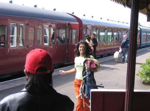 Train exterior, Bollywood filming at private railway